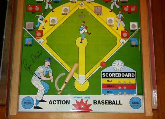 1962 Roger Maris Action Baseball