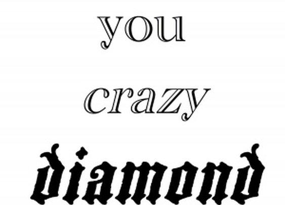 Shine On You Crazy Diamond « Font-Art