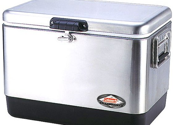 Coleman - 54 Quart Stainless Steel Belted® Cooler