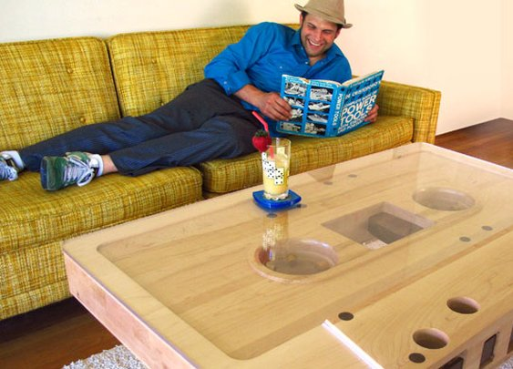 Retro Brilliance: The Cassette Tape Coffee Table | Bit Rebels