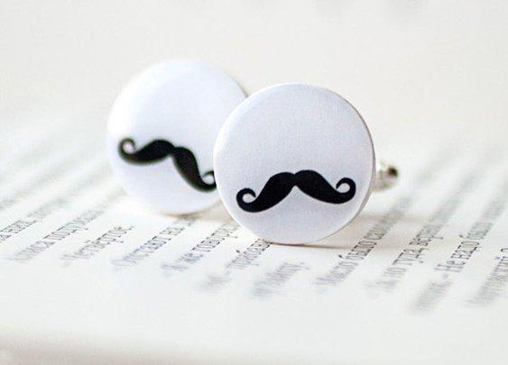 Mustache party cufflinks
