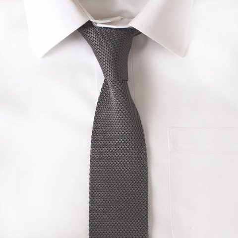 Knit Solid Grey Tie