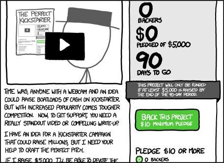 xkcd: Kickstarter
