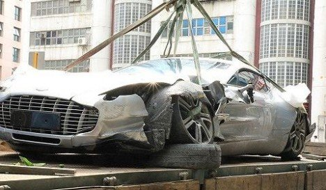 Aston Martin One-77 Crash in Hong Kong