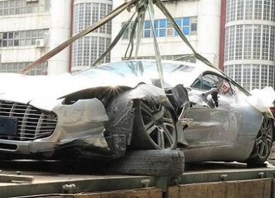 Aston Martin One-77 Crash in Hong Kong