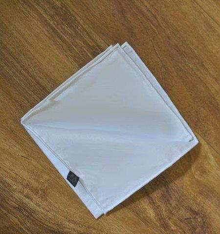 White Cotton Pocket Square