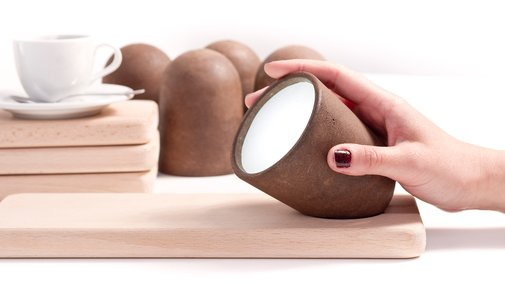 Lamps Made From Coffee Grounds Smell Like Fresh Java