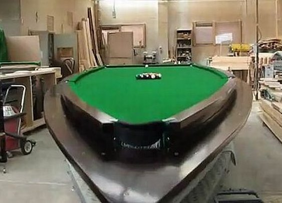 21-Foot Speedboat Turned Into A Pool Table