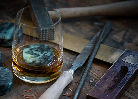 Handcrafted whiskey stones.