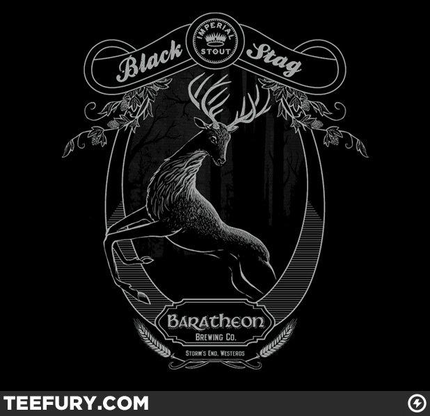 TeeFury - Black Stag Shirt