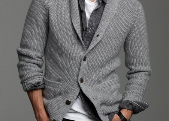 Three words about casual style - Shawl Collar Sweater.