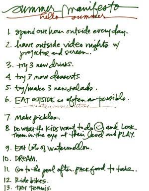Build Your Summer Manifesto