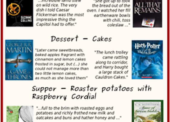 Menu for book eaters [Infographics] - AMAZING!