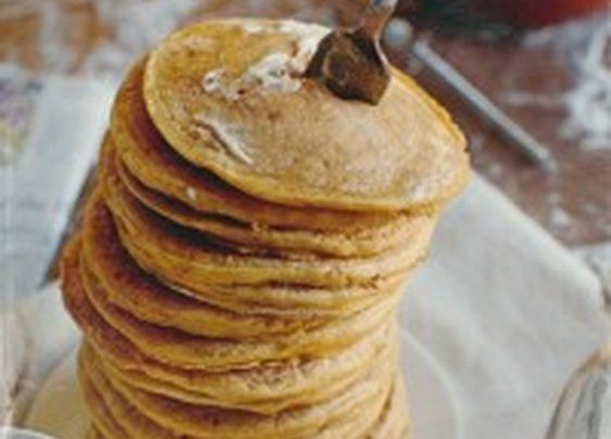 Whiskey Pancakes with Whiskey Maple Cream Sauce – It's what's for dinner.  |  Whiskey Disks Blog