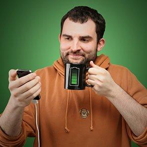 ThinkGeek :: Battery Thermokruzhkus Mug