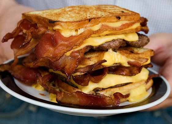 The Double(!) Bacon Hamburger Fatty Melt