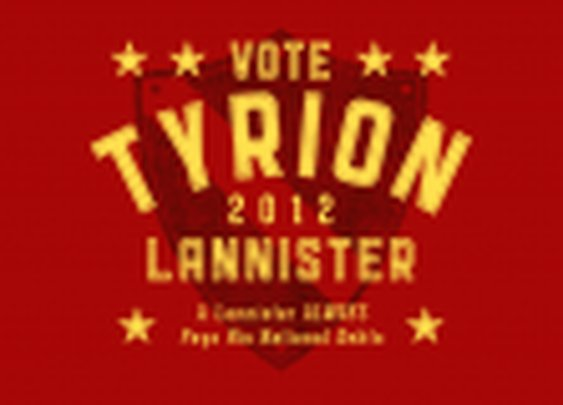 Vote Tyrion Lannister 2012 T-Shirt for Game of Thrones fans