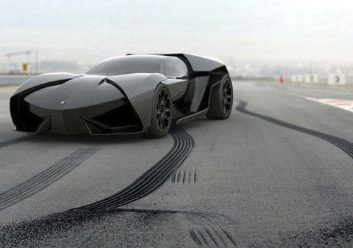 Oh yeah! Black Lamborghini Ankonian Concept.