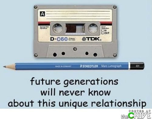 Cassette and Pencil