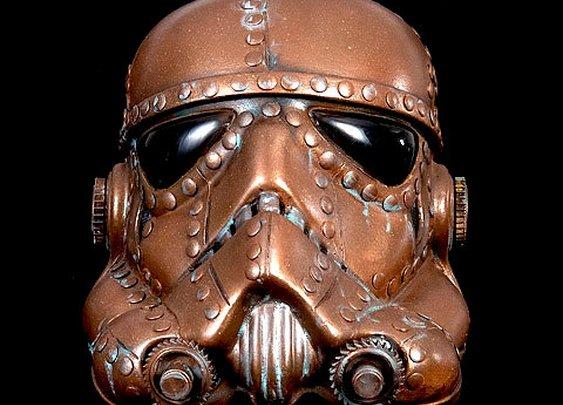 Steampunk  Storm Trooper Helmet Star wars  Life Size by kyoob