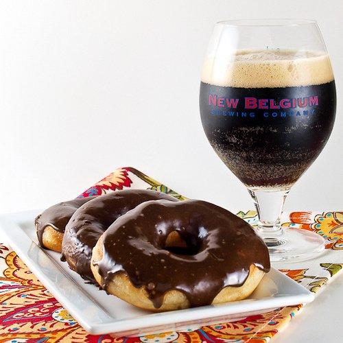 1554 Black Ale Doughnuts with Mocha Black Ale Glaze