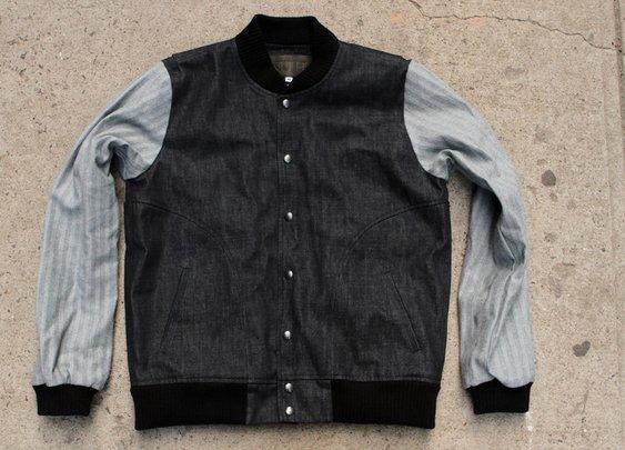 RF x Kith Selvedge Denim Varsity Jacket