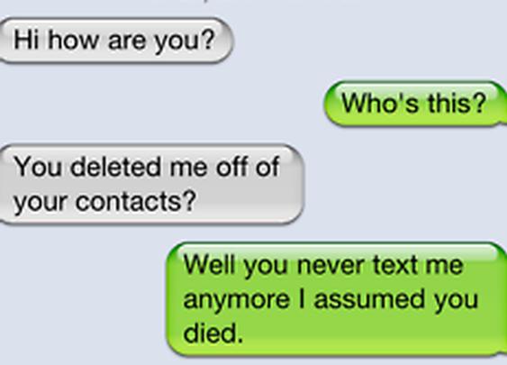 I assumed you died