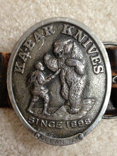 Ka-Bar Knives Belt Buckle (Bear)