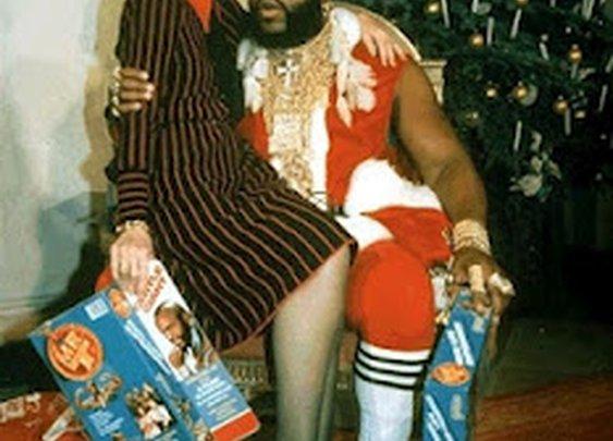 Mr T. Santa Clause with Nancy Regan