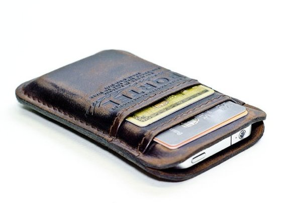 RetroModern Aged Leather Pocket | Contemporary Masculine