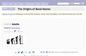 The Origins of Band Names - Rate Your Music - StumbleUpon