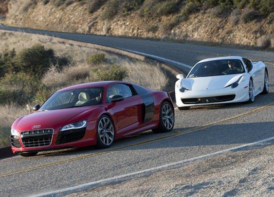 The Audi R8 compared to the Ferrari 458 Italia!