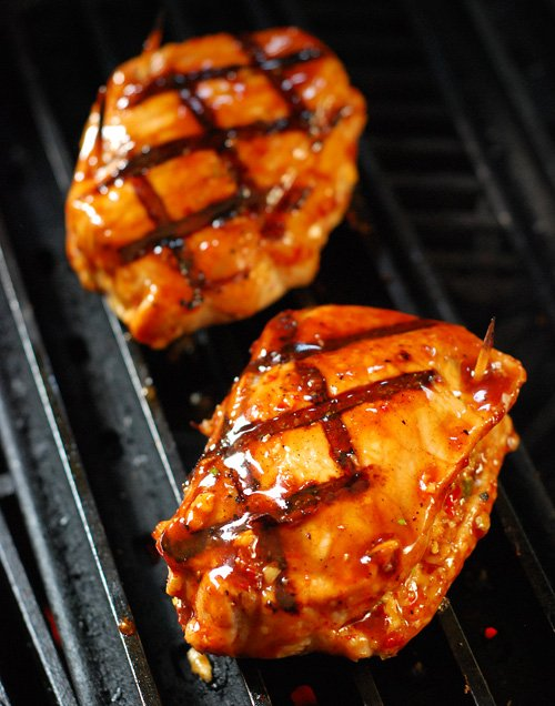 Grilled Stuffed Pork Chops