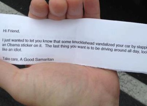 A genuine act of kindness