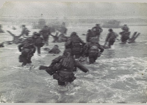 Robert Capa: [American Troops Landing on D-Day, Omaha Beach, Normandy