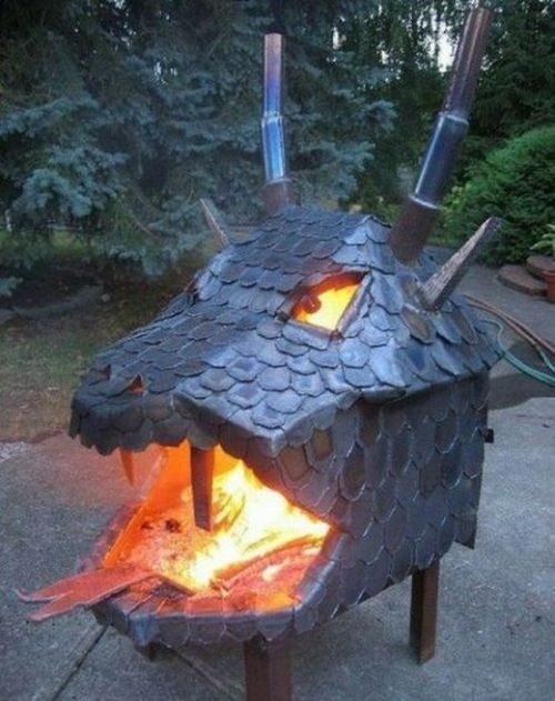 Dragon Head Fire Pit
