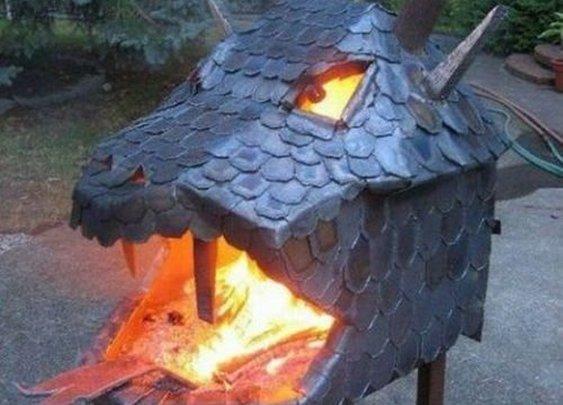 Dragon Head Fire Pit