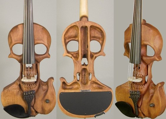 Stratton Skull 5-string Electric Violin