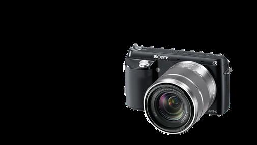 Sony Alpha NEX-F3 Camera and 18-55mm Lens