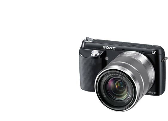 Sony Alpha NEX-F3 Camera and 18-55mm Lens
