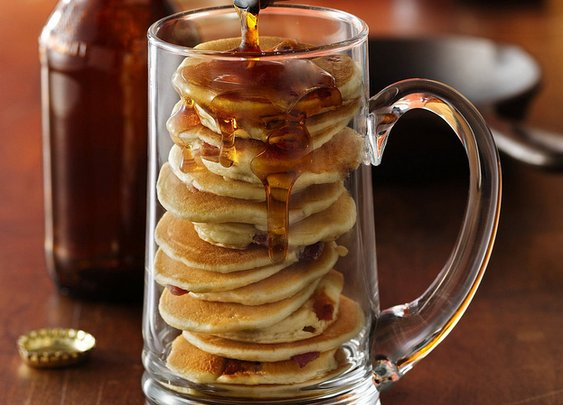 Beer and Bacon Mancakes Recipe