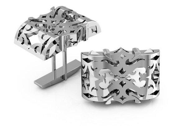 Men's LUZ cufflinks in sterling silver
