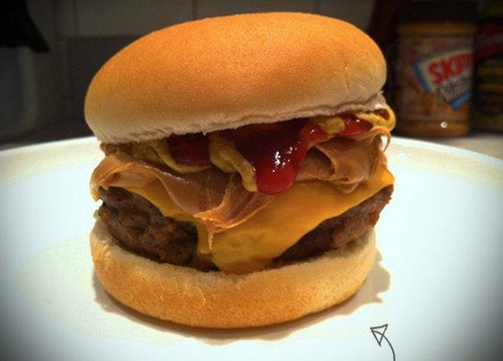 How to: Make a Peanut Butter Cheeseburger » Man Made DIY   Crafts for Men « Keywords: food, recipe, kitchen, cheeseburger
