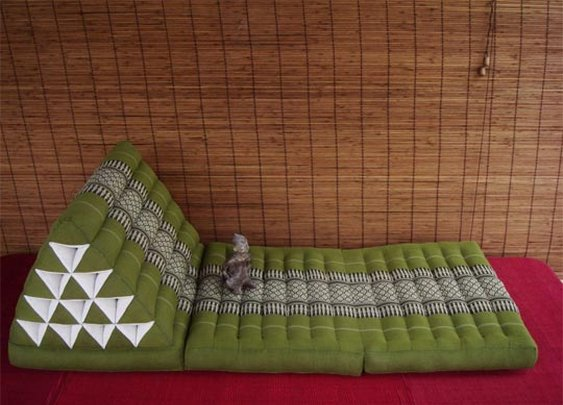 Thai Triangle Pillows:  Floor Seating for Crowds