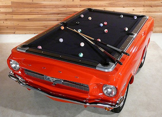 The Presurfer: Ford Mustang Pool Table