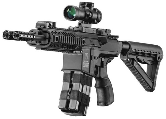 The Firearm Blog » Silver Shadow Gilboa Snake Double Barreled AR-15 from Israel