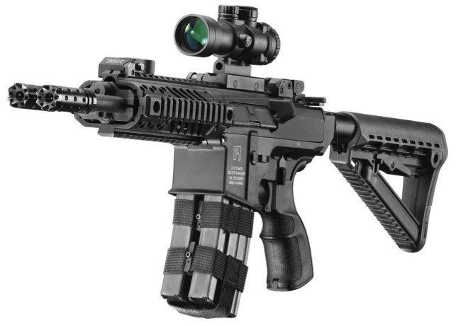 The Firearm Blog » Silver Shadow Gilboa Snake Double Barreled AR-15 from Israel