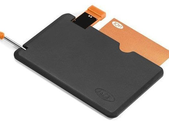 LaCie WriteCard Credit Card USB Flash Drive - 8GB