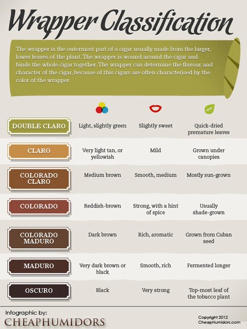 [INFOGRAPHIC] Cigar Wrapper Classifications «  CheapHumidors.com Blog