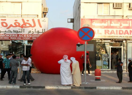Red Balls In Abu Dhabi